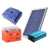 Set electroalimentare 100W pentru automatizari porti 220V cu panou solar