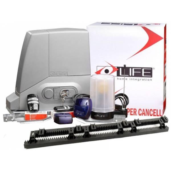 Kit automatizare poarta culisanta 600 Kg LIFE Acer + Cremaliera