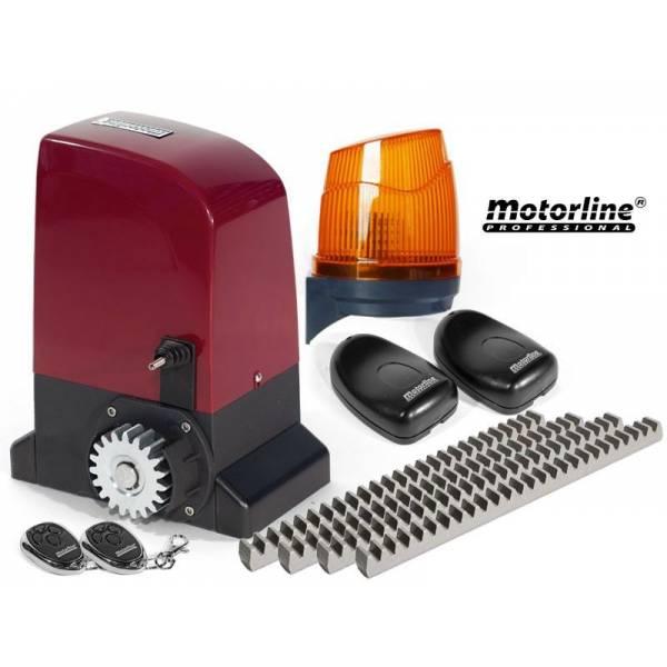 Kit de automatizare poarta culisanta 500 Kg Motorline cu cremaliera 4 metri