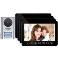 Set videointerfon 4 familii color 7 Inch